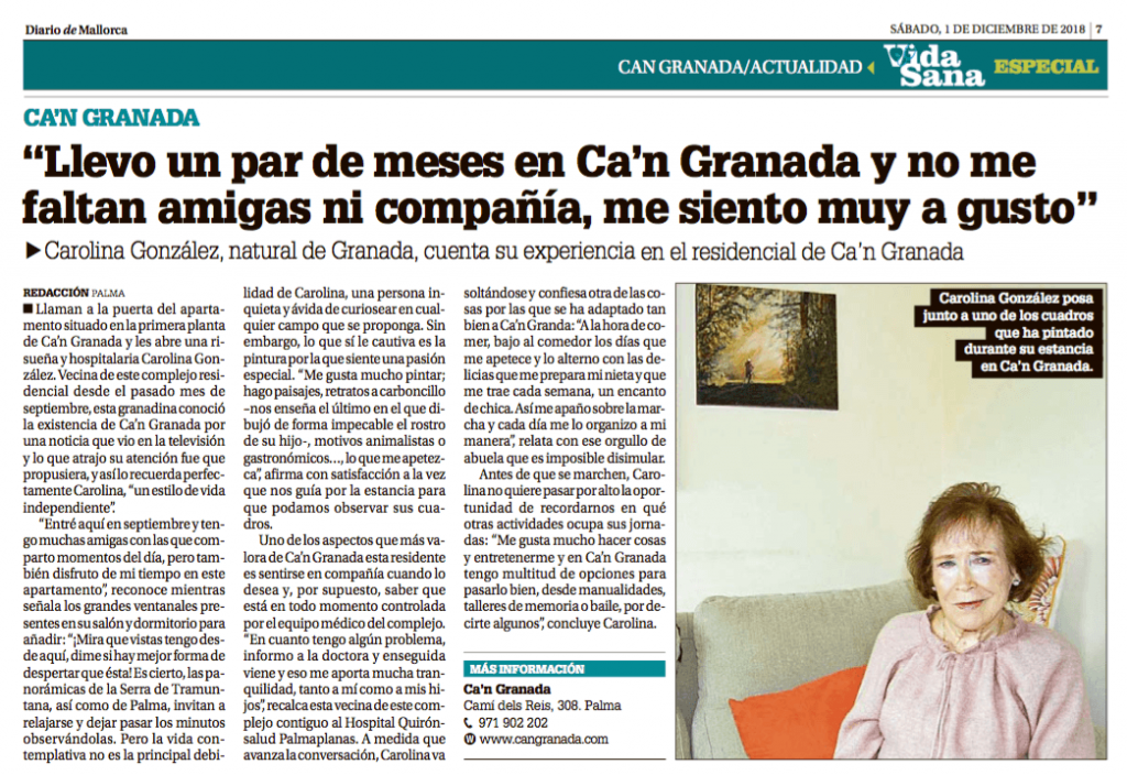 Residente en Ca'n Granada en Diario de Mallorca