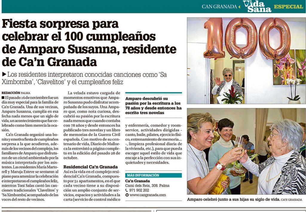 Cumpleaños de Amparo Susanna en Ca'n Granada