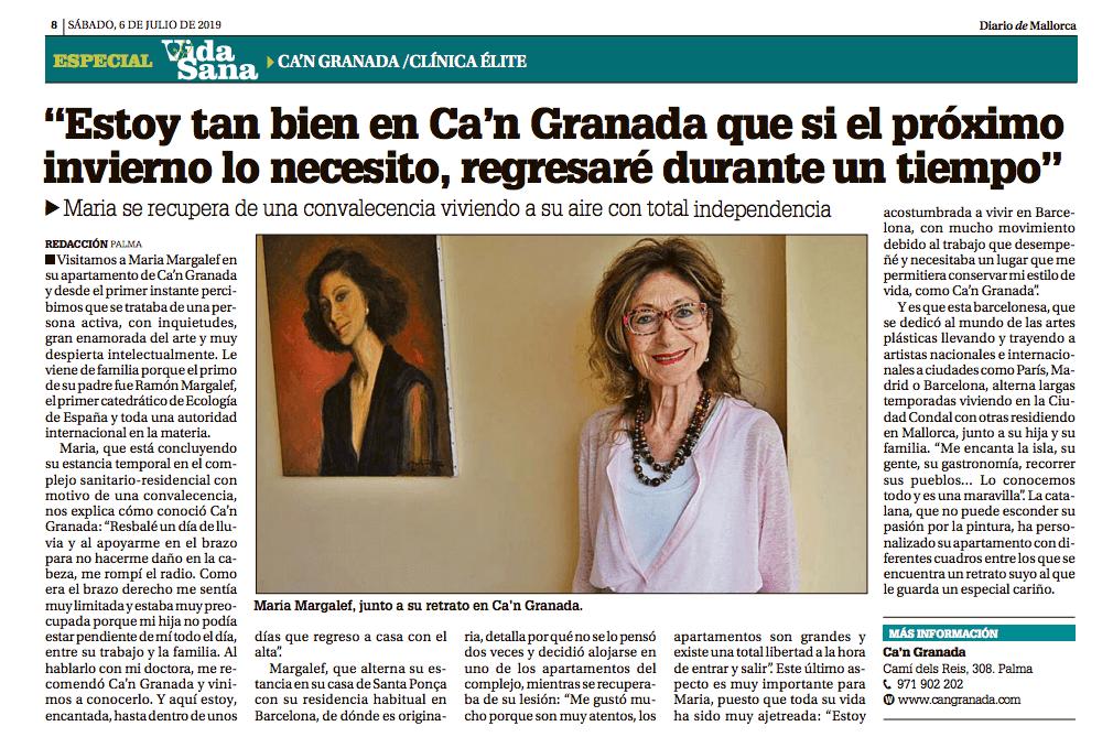 Maria Margalef: su experiencia en Ca'n Granada
